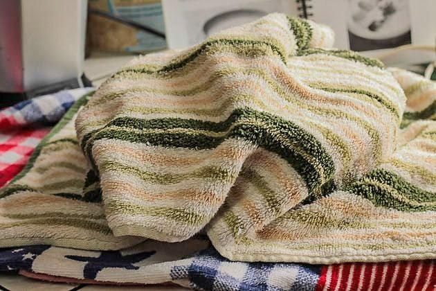 towels covering a dish of yogurt