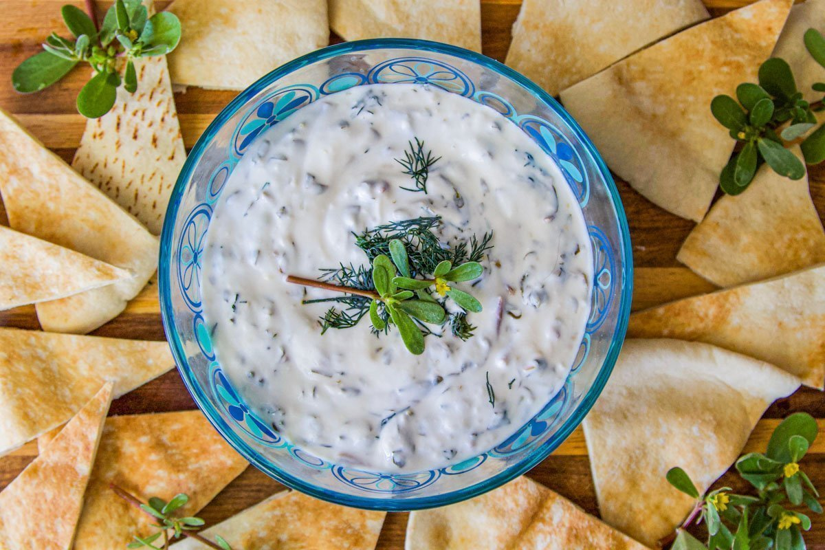 Purslane Dip (Purslane Recipes You Have to Try)