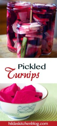 Middle Eastern Pickled Turnips