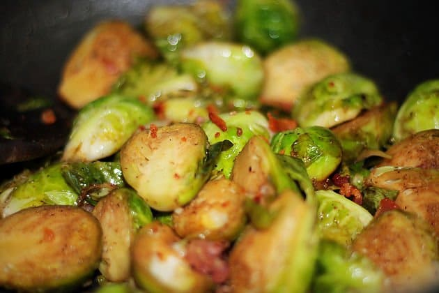 low carb cheesy brussel sprouts