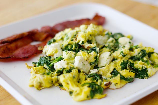 Low Carb Spinach and Eggs Recipe