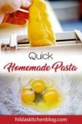 homemade pasta pin