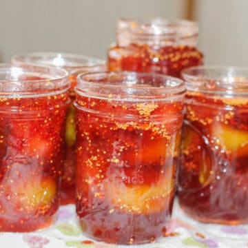 strawberry fig preserves in jars