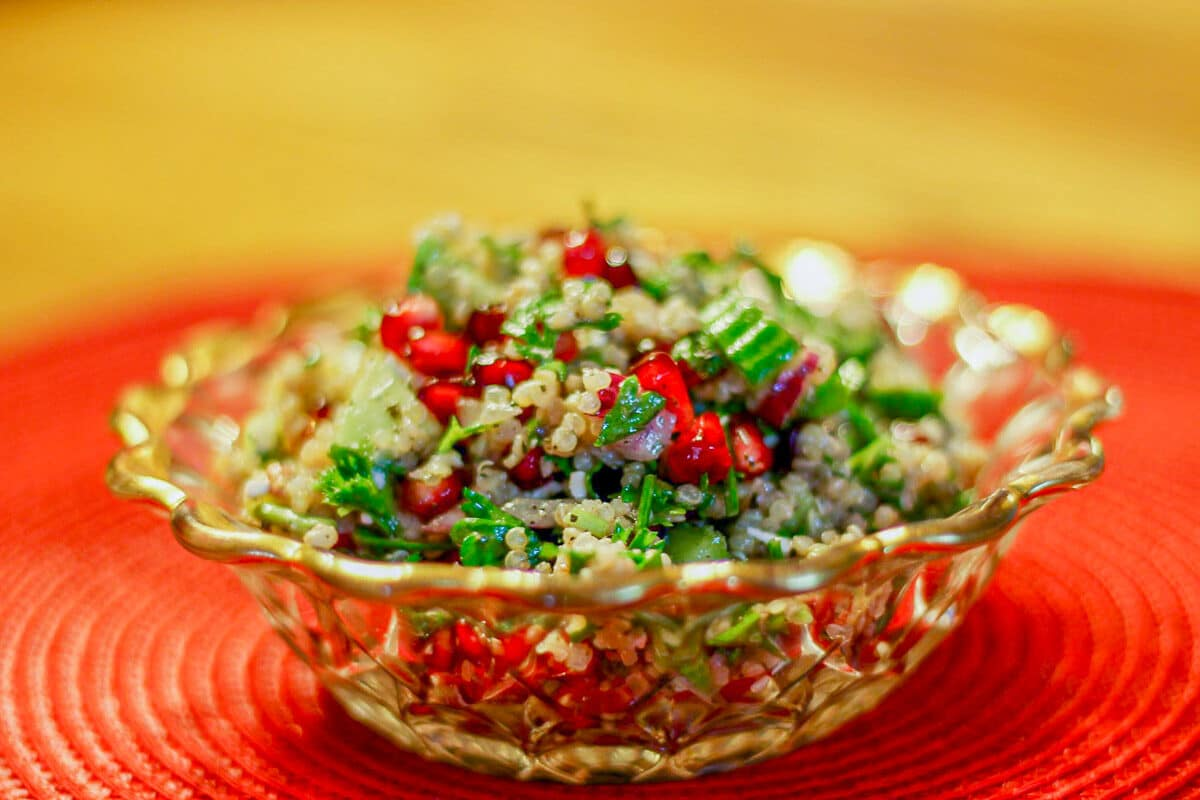 quinoa salad in a bowl