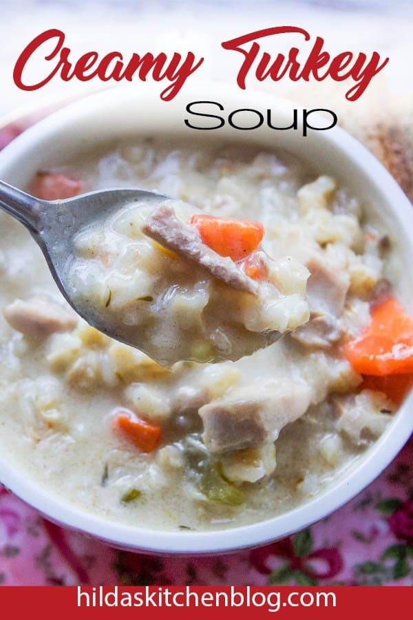 creamy turkey soup