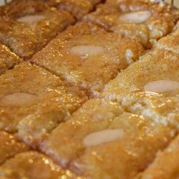 semolina cake drenched in syrup