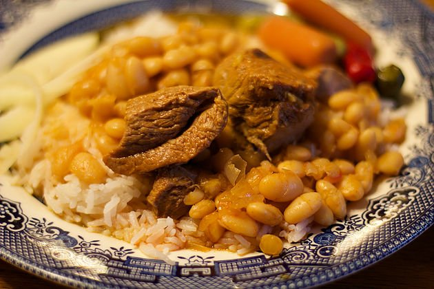 Assyrian Bean Stew with Lamb (Masheh)