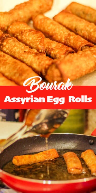 Bourak (Assyrian egg rolls)