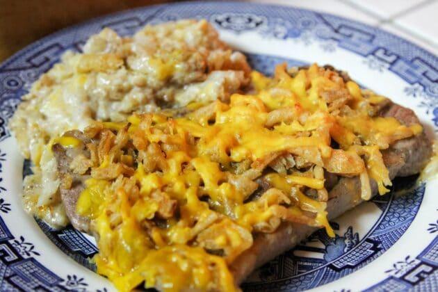 pork chops and potatoes