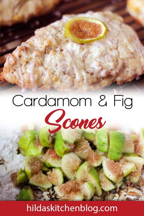 fig and cardamom scones