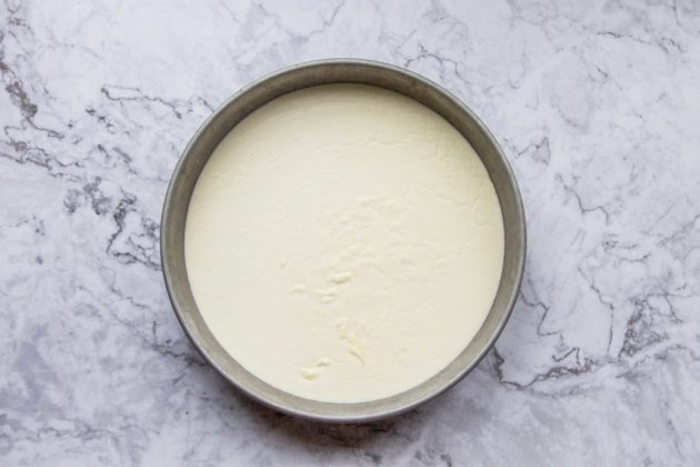 clotted cream in a pan on a gray marble top