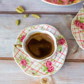 two cups of Turkish coffee