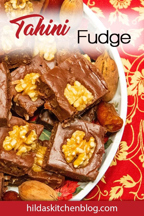 tahini fudge