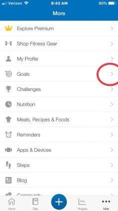 fitness pal app screen shot, macro tracker