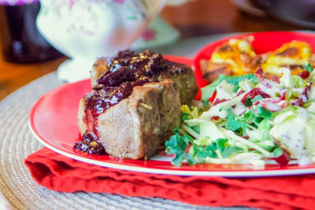 Lamb Loin Chops Recipe (with cherry reduction)
