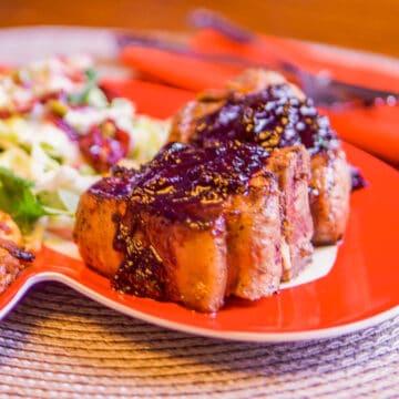 lamb with cherry sauce
