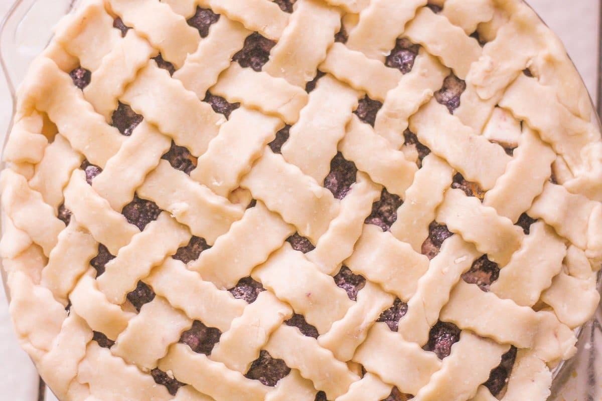 lattice topped pie