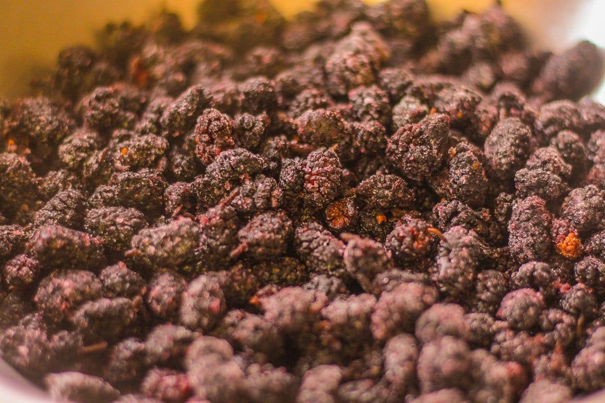 frozen mullberries