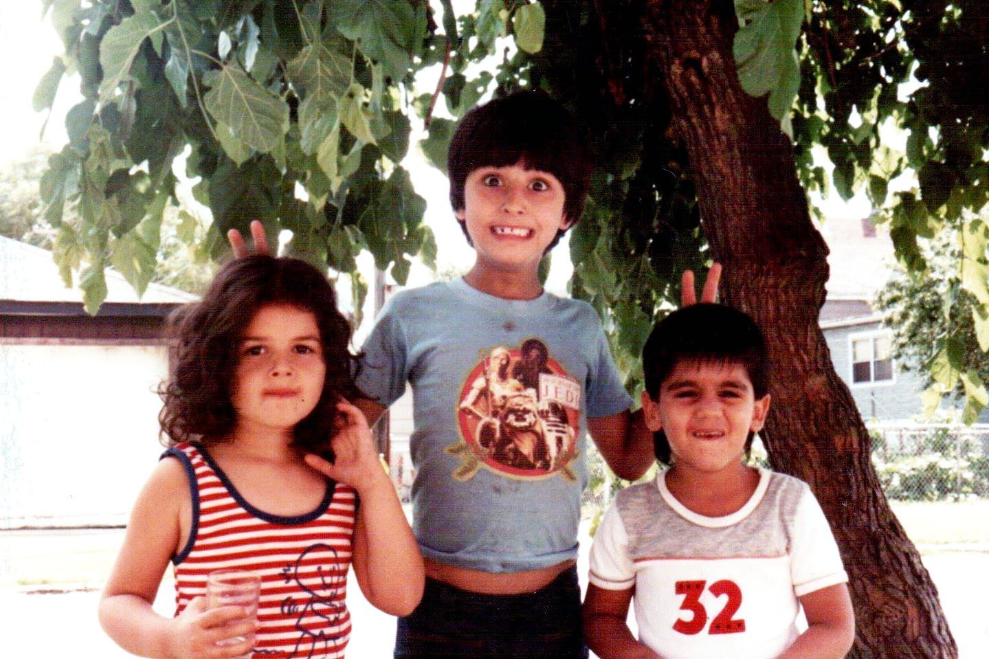 kids under a mulberry tree