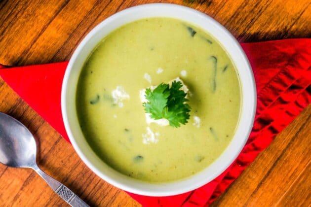 Poblano Soup (Crema De Poblano)