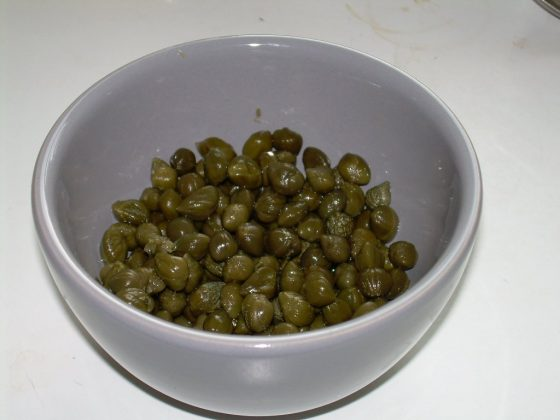 capers in a bowl