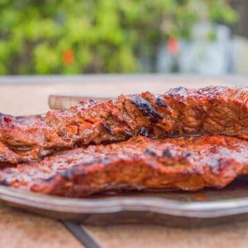 Carne Asada on a plate