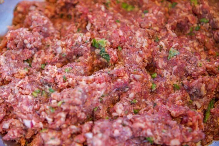 seasoned raw meat