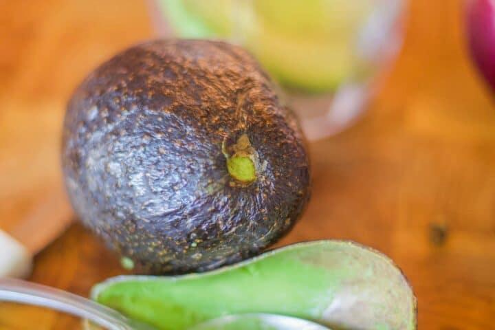 avocado on a cutting board