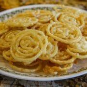 a plate of zalabia