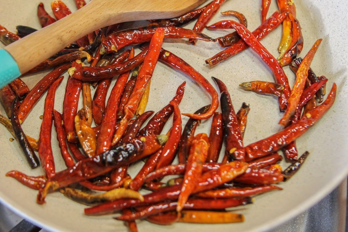 roasted arbol chiles