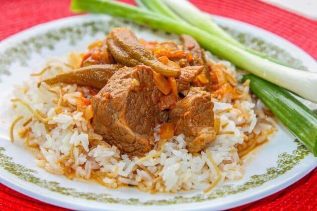 Okra Stew with Lamb or Beef (Bamya)