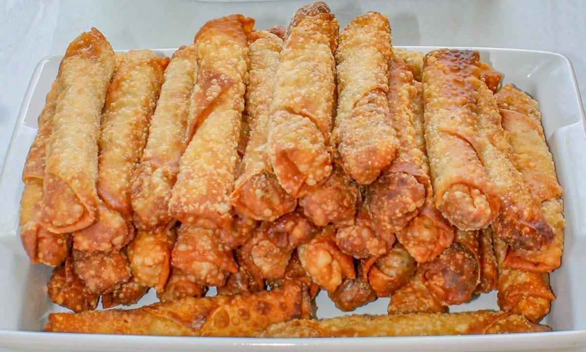fried bourak on a plate