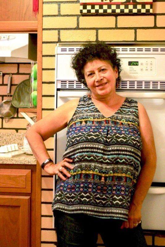 Beni in the kitchen
