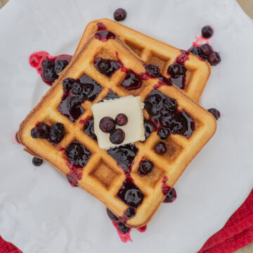 huckleberry syrup on waffles 2