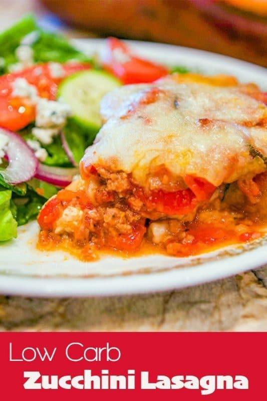 low carb lasagna pin