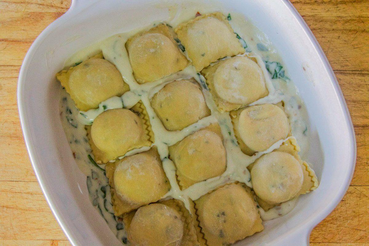 homemade pumkin ravioli