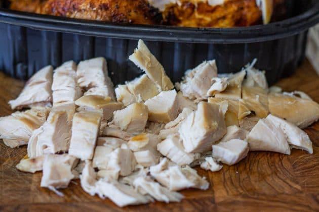 chopped rotisserie chicken