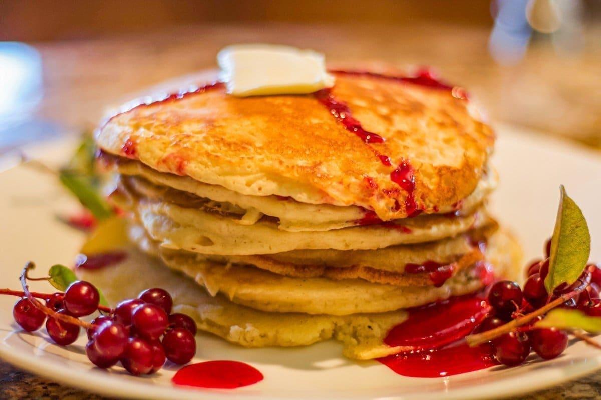 choke cherry syrup on pancakes