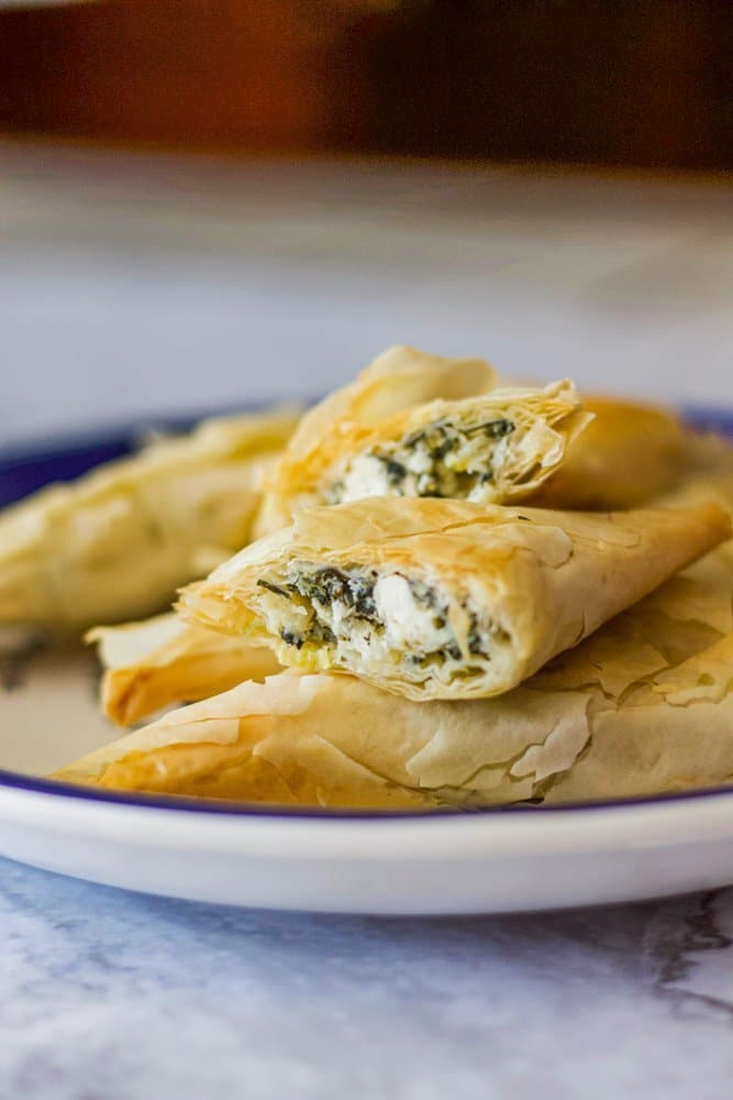 spanakopita on a plate