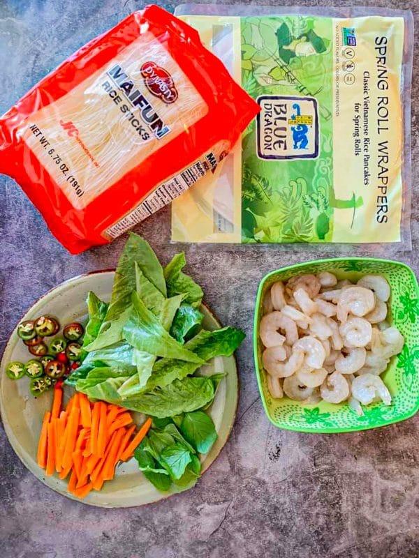 vietnamese spring rolls ingredients