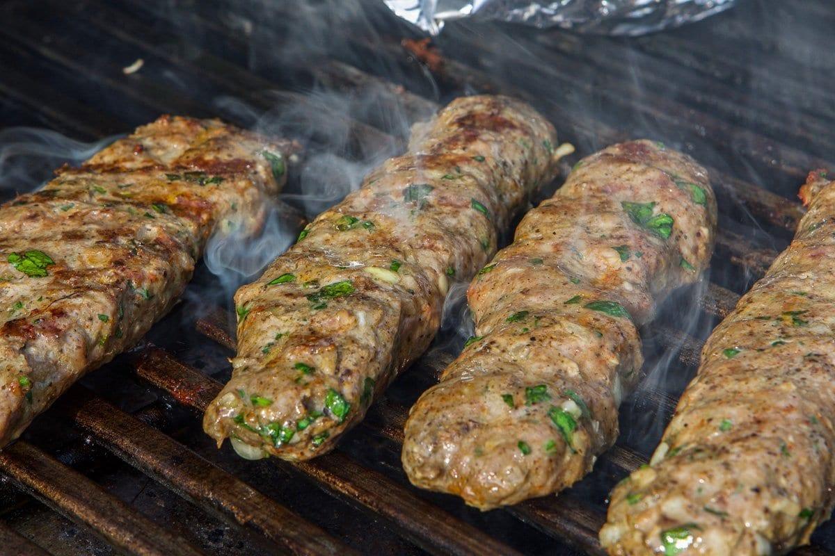kofta kabob on the grill