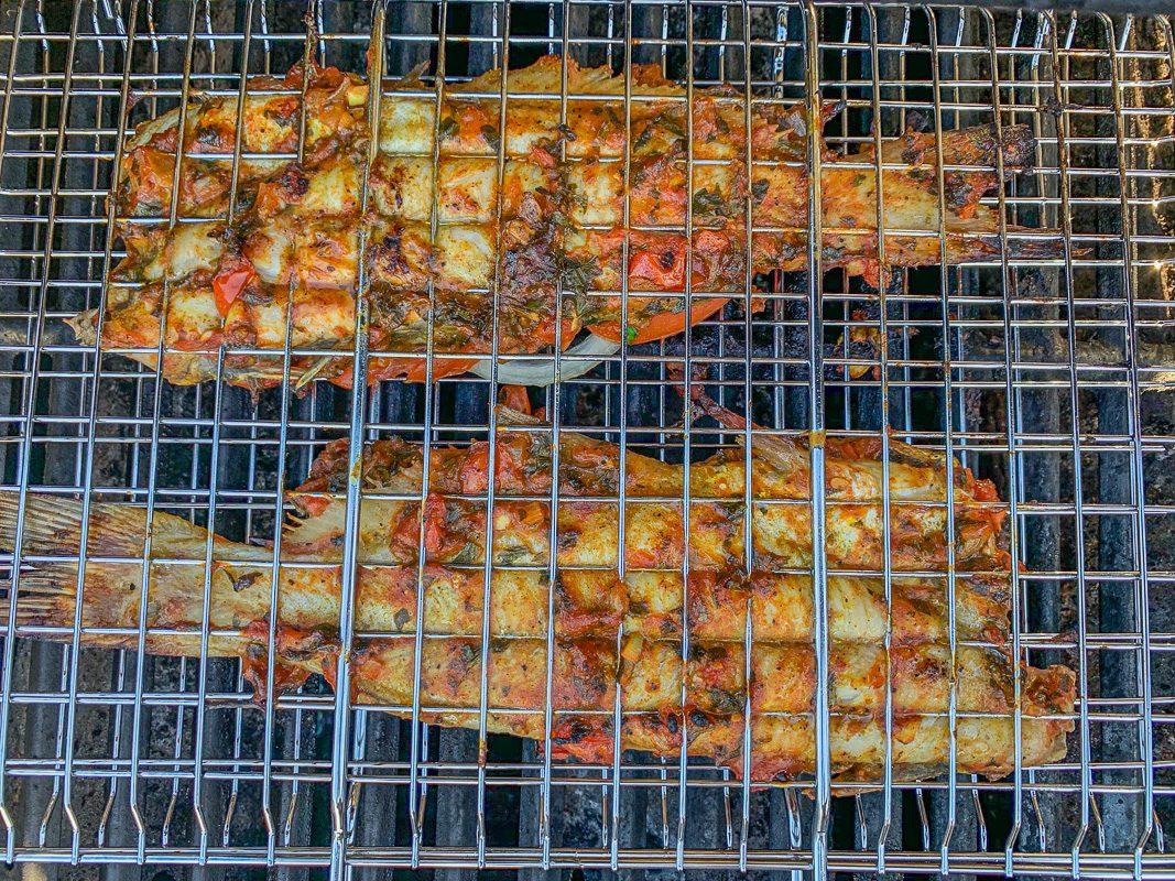 grilled msagouf in a basket