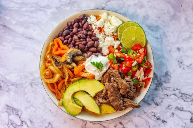 Mexican Rice Bowl (Vegetarian and Meat Options)