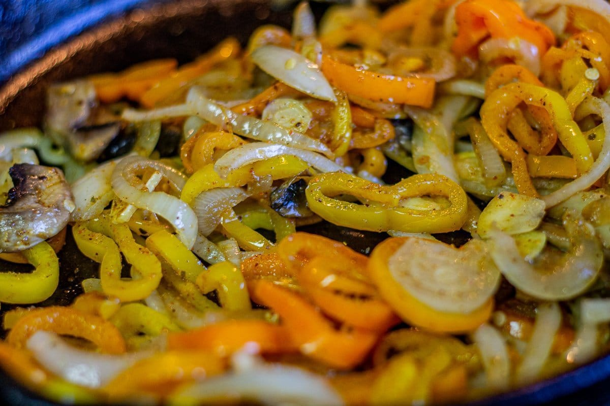 sautéed onions and peppers