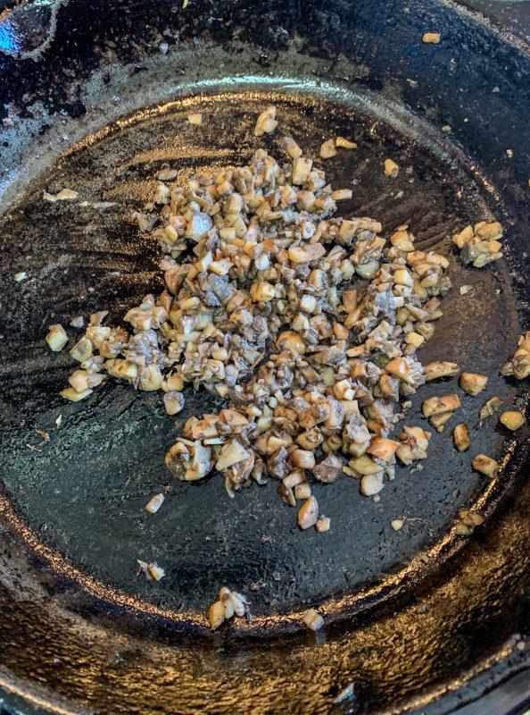 sautéed minced mushrooms
