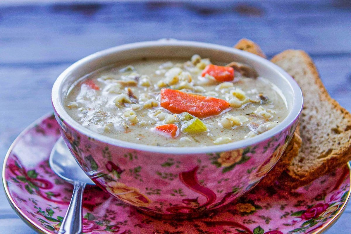 turkey soup and crackers