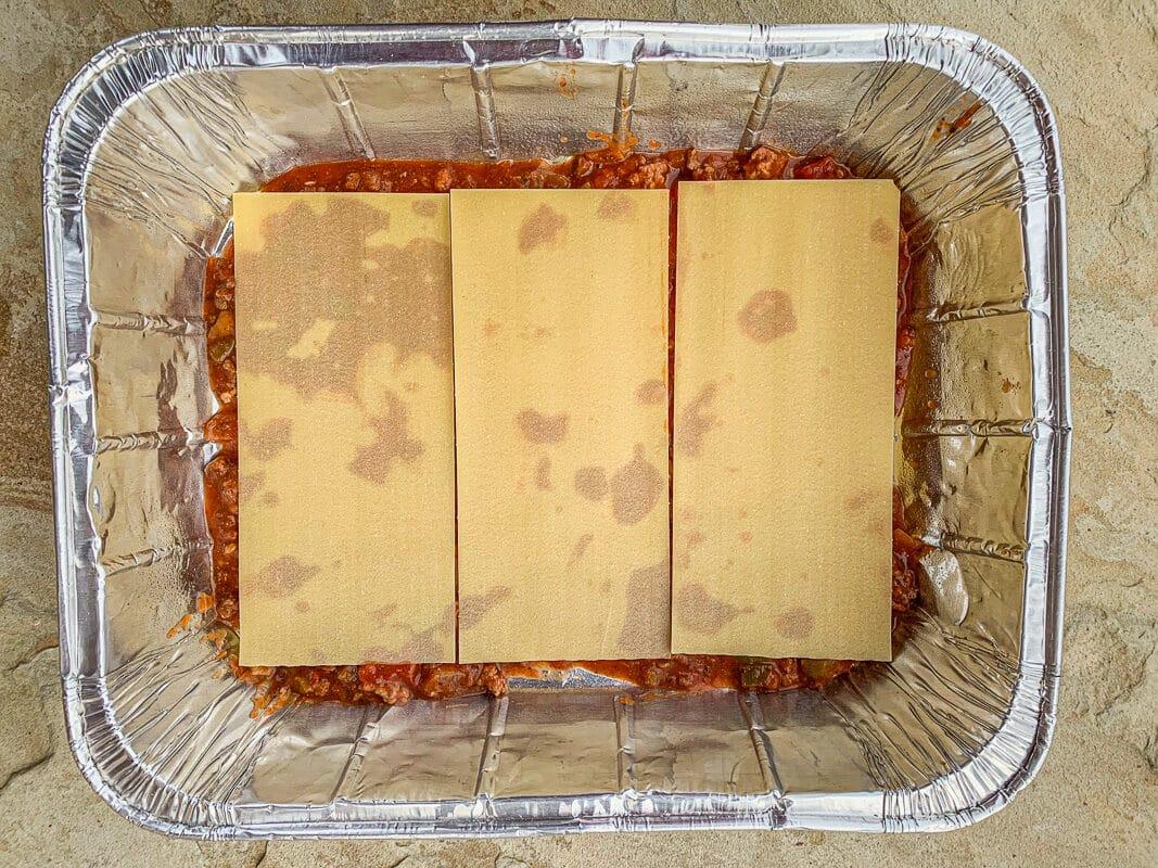 lasagna noodles in a pan