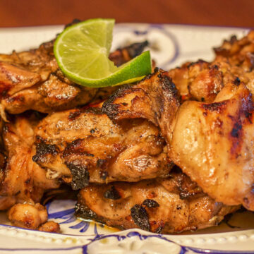 low carb grilled chicken on a plate