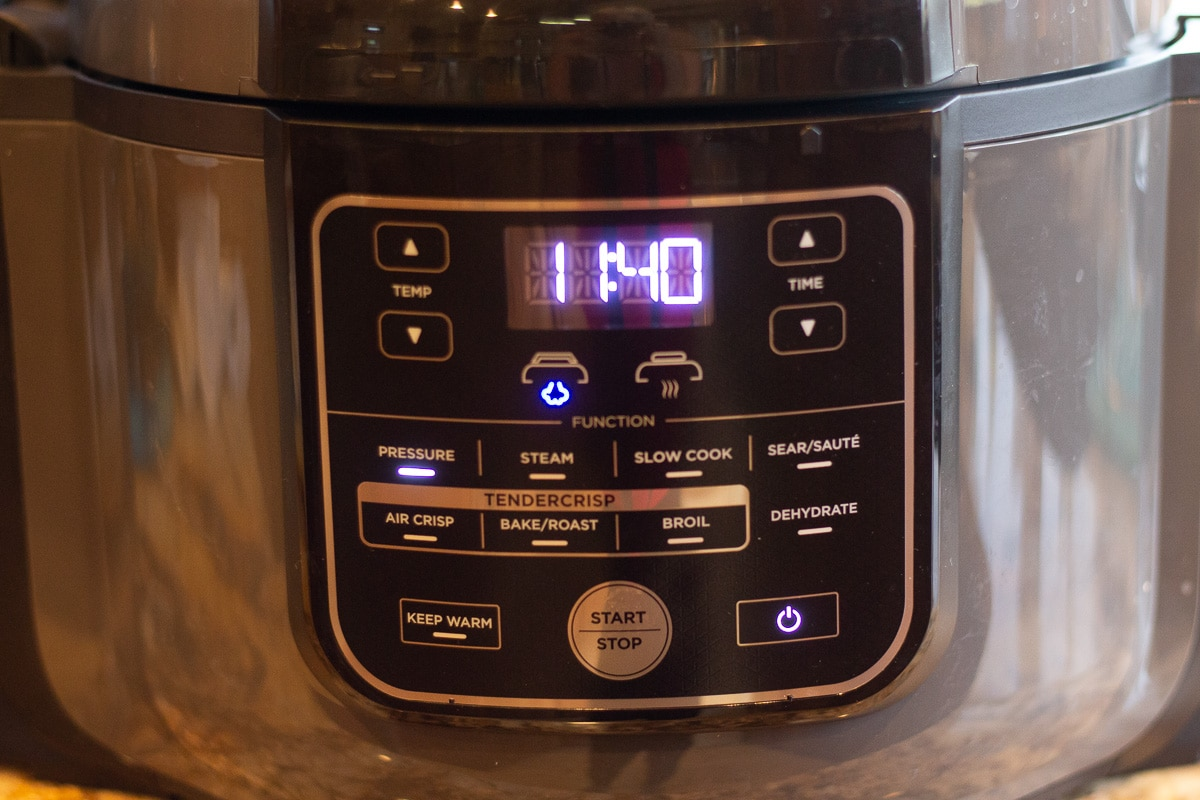 instant pot set to 15 min.