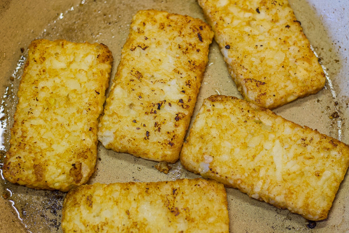 hash browns in a pan